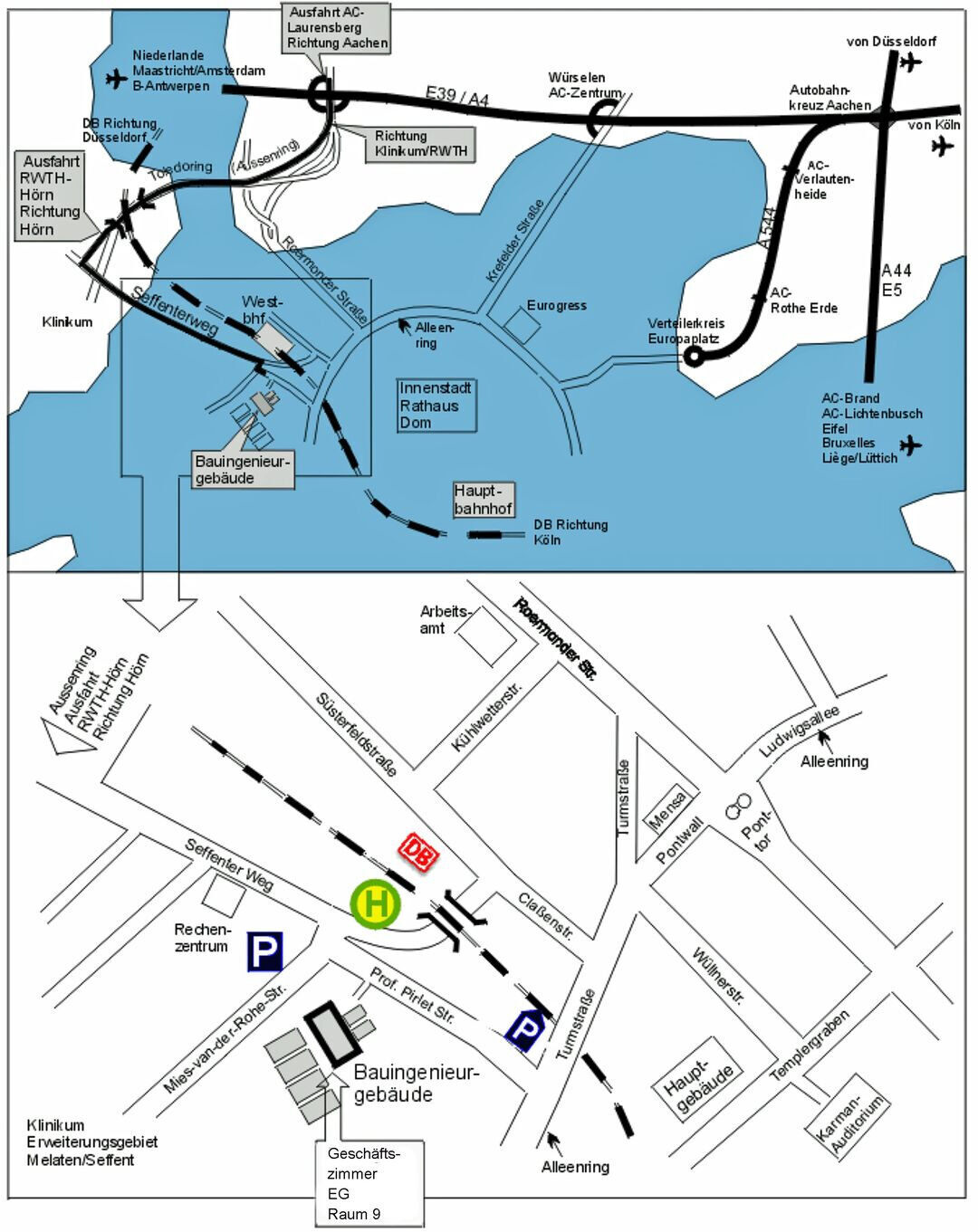 Contact and Maps - RWTH AACHEN UNIVERSITY Faculty of Civil ...